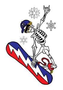 skeleton_snowboard_tattoo