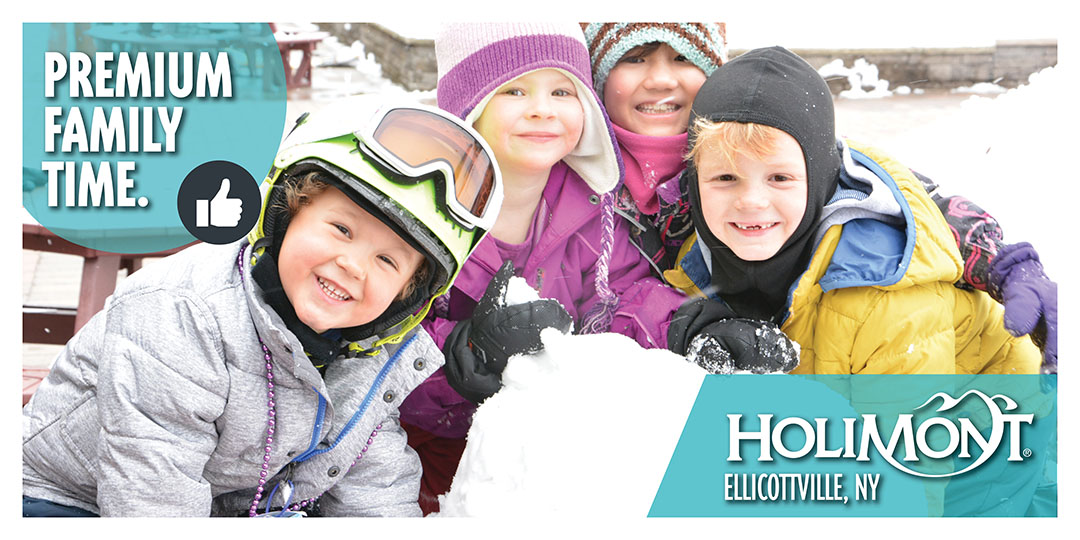 Billboard and digital Ad design for HoliMont Ski Club