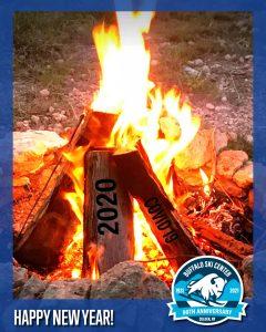 Bon fire New Years 2020