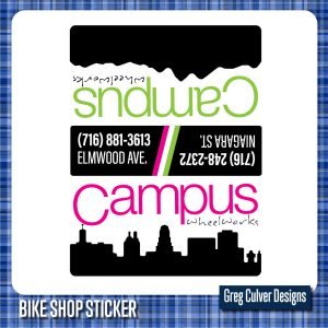 Campus bicycle sticker