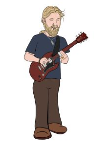 Derek Trucks Cartoon