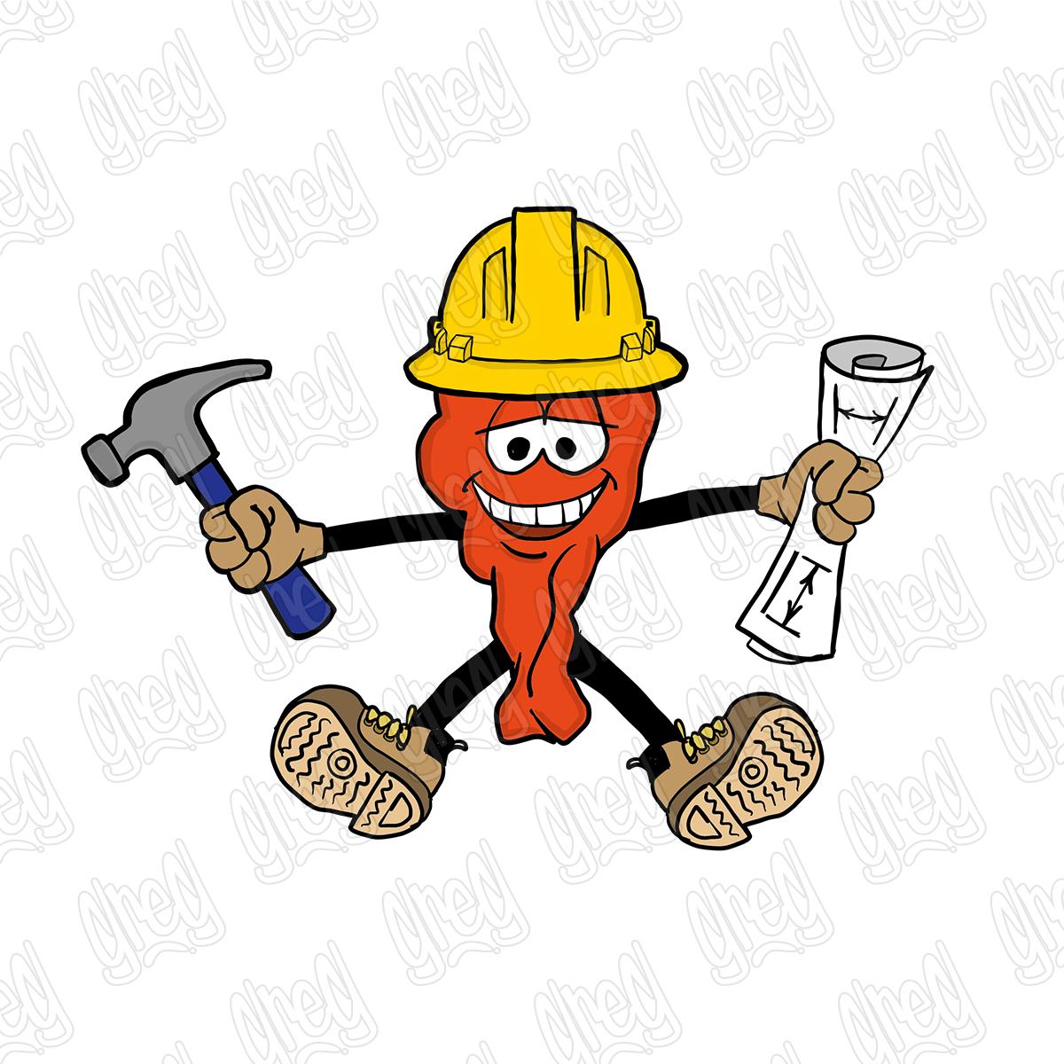 Contractor Hot Wing Cartoon by Greg Culver