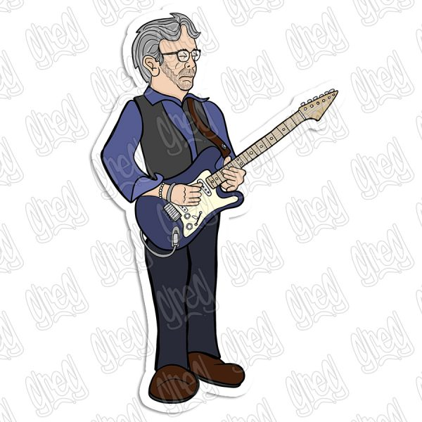 Eric Clapton Cartoon by Greg Culver