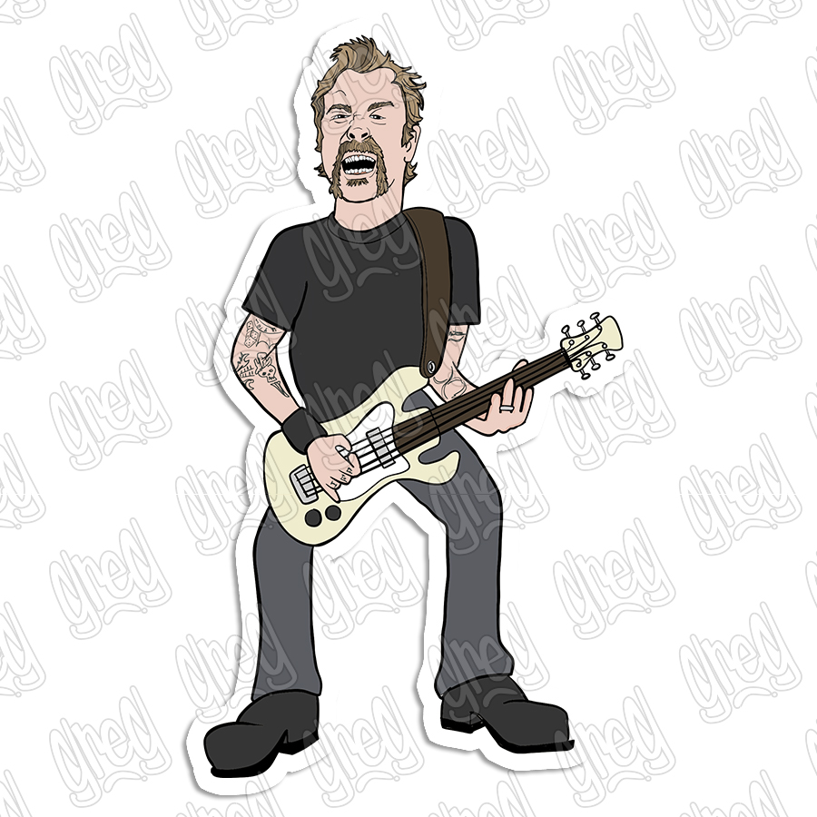 James Hetfield Cartoon by Greg Culver