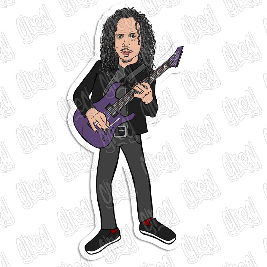 Kirk Hammett cartoon by Greg Culver