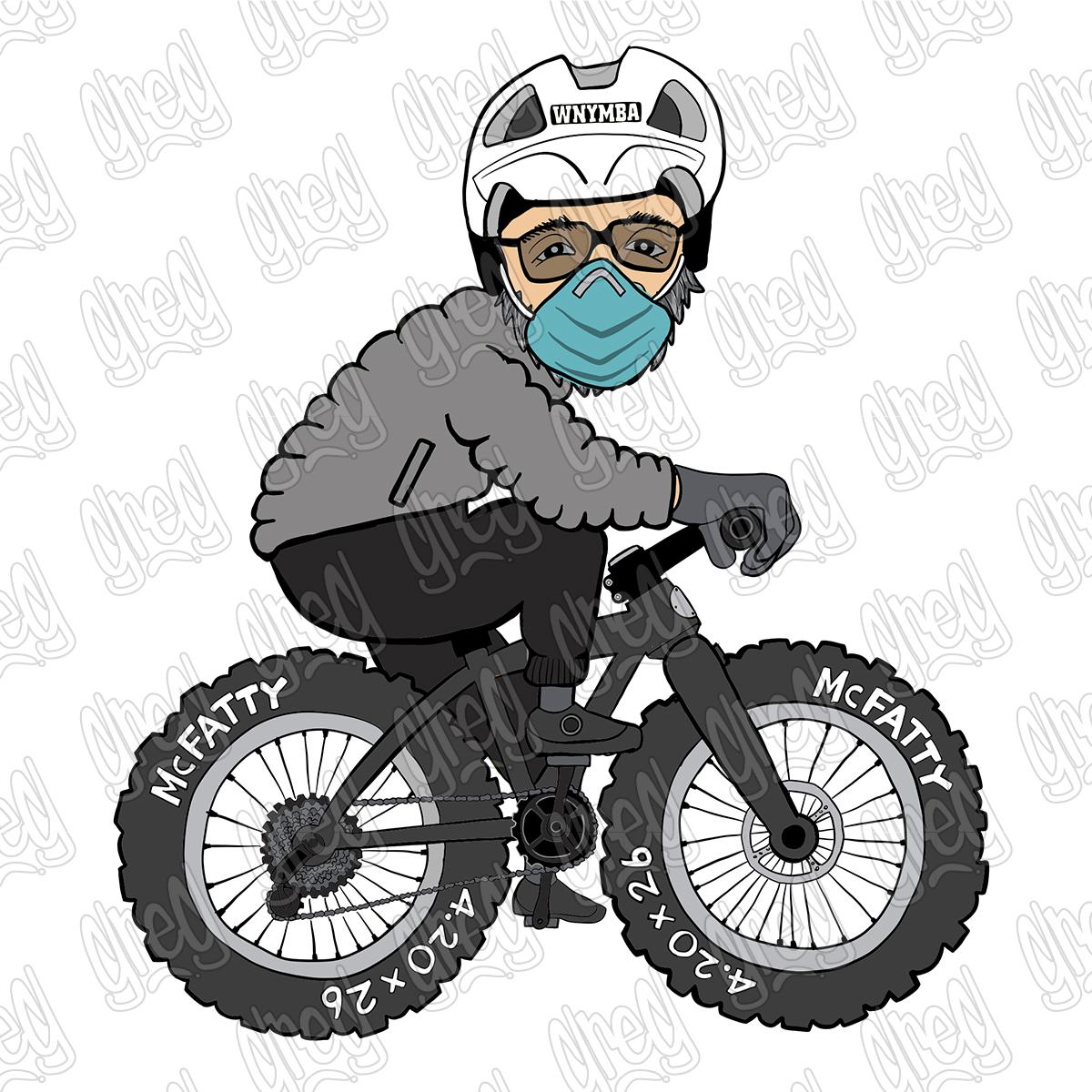 Fat Bike Cartoon by Greg Culver