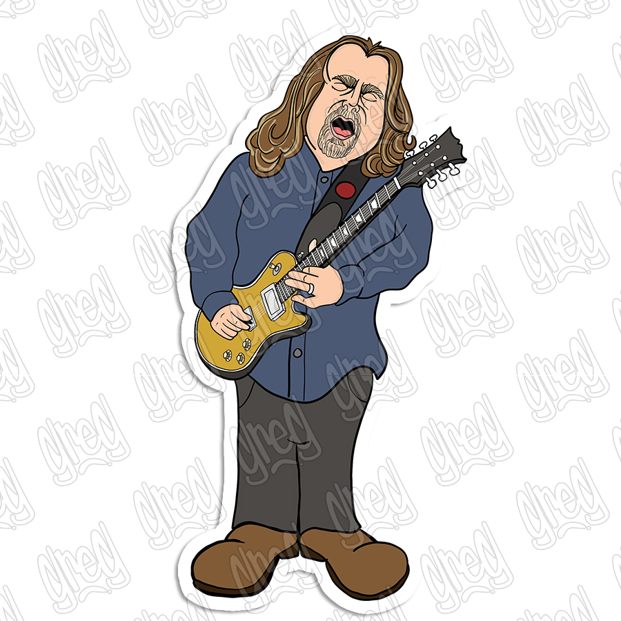 Cartoon of Warren Haynes by Greg Culver