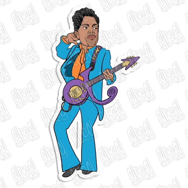 Prince cartoon sticker by Greg Culver and Hot Wing Designs.