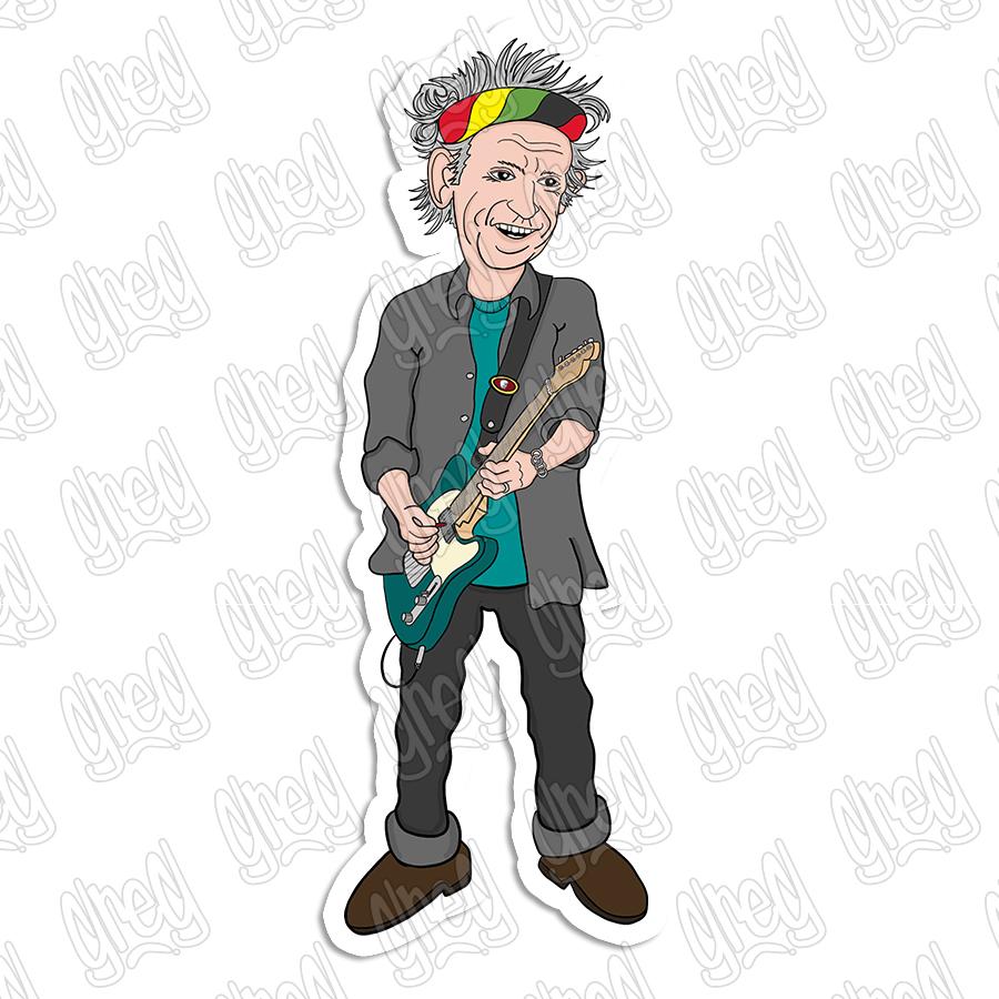 Keith Richards Cartoon