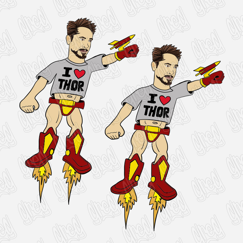 Tony 2 Pack of stickers