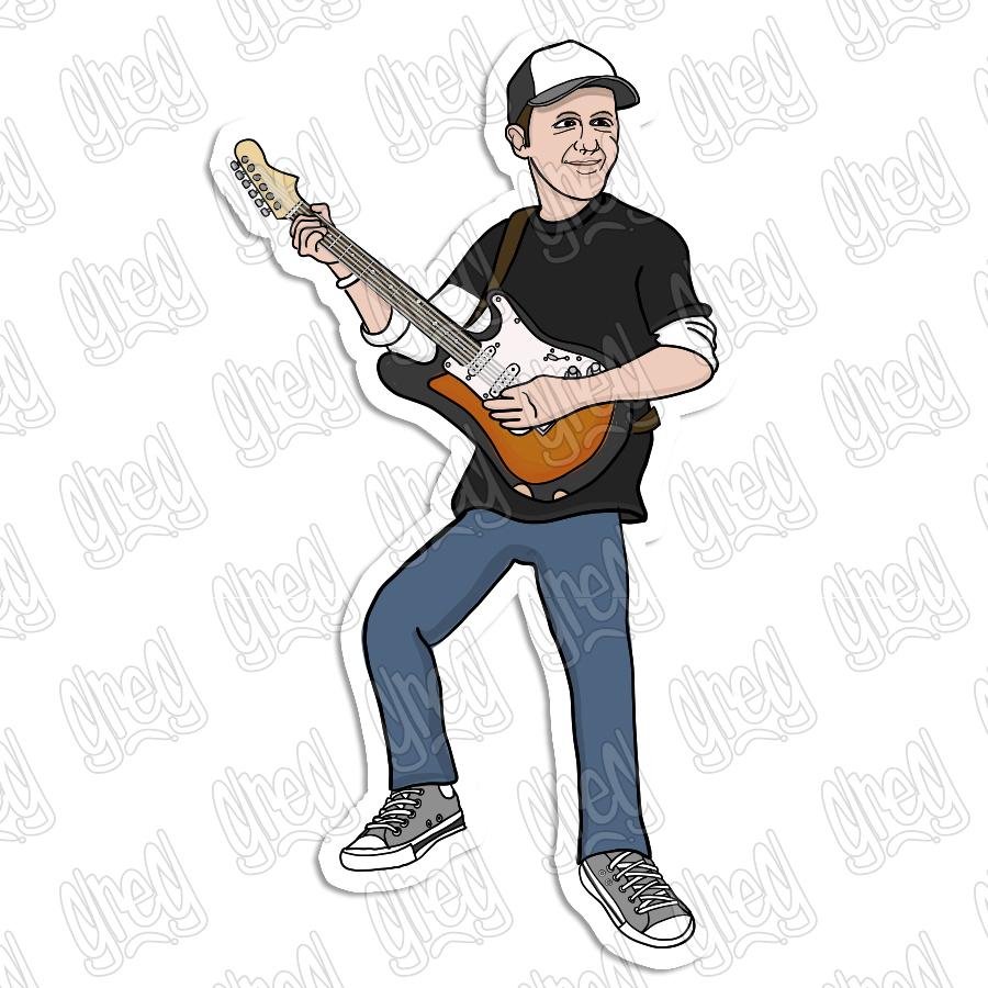 Nick MacDaniels cartoon sticker by Greg Culver and Hot Wing Designs
