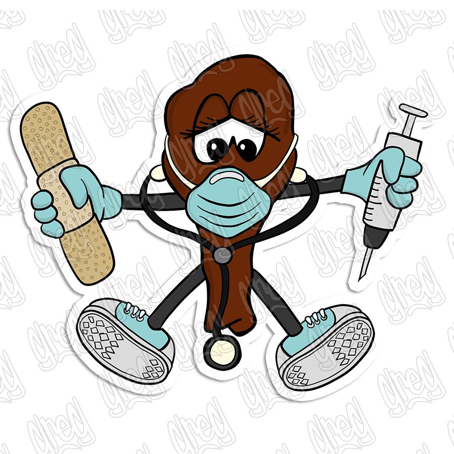 Nurse wing sticker