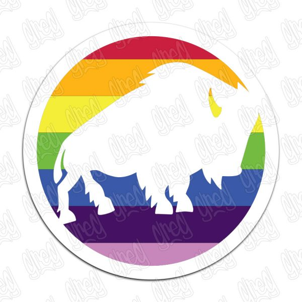 Buffalo League PRIDE Sticker