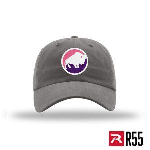The Buffalo League PRETTY GREY ROUND cap
