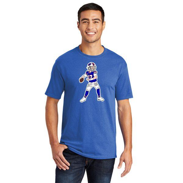 Josh Allen Cartoon Adult t-shirt royal