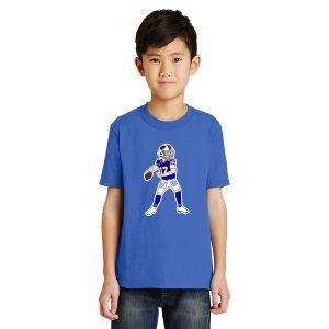 Josh Allen Cartoon youth t-shirt royal