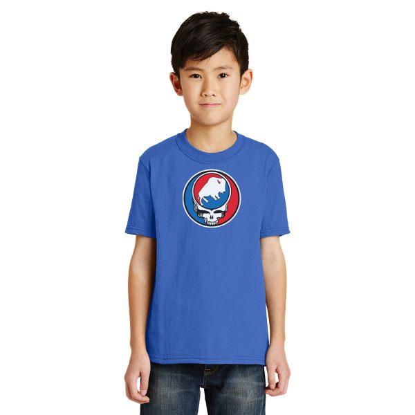 Buffalo League Steal your Buffalo youth t-shirt royal blue