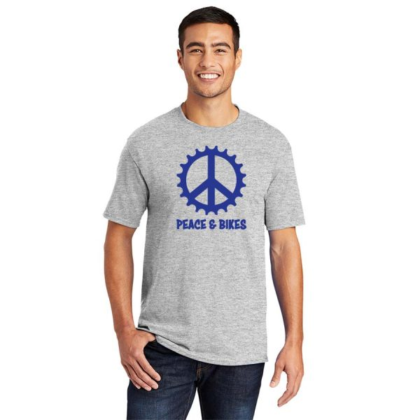 Peace and Bikes T-shirt Blue